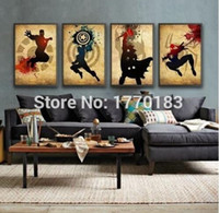 america picture - The Avengers Iron man Thor Captain America Spiderman Hand made Modern Abstract Oil Painting Marvel Comics Superhero Canvas Art