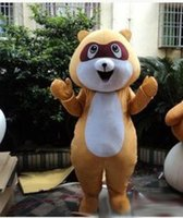 adult raccoon costume - New Brown Raccoon Mascot Costume Christmas Halloween Animal Raccoon Cartoon Mascot Adult Size Party Carnival Fancy Dress