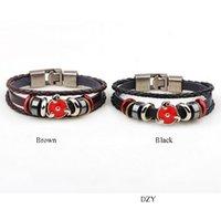 Bracelet en cuir 2016 Hot Star Charm Bangles Bracelet en cuir pour hommes Bracelet en alliage multi-couches Infinity Grand bracelet sans fin Bijoux