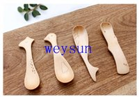 Wholesale Creative Cartoon Animal Shaped Wooden Spoons Special Kids Spoons Children Spoons Cartoon Animal Spoons