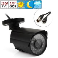Wholesale 1300TVL CMOS Waterproof Outdoor CCTV Security Camera IR LEDs Color Night Vision mm Lens NTSC PAL CCT_153
