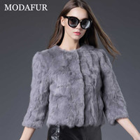Wholesale 2016 new style Real Rex Rabbit Fur coat O Neck Thin fashion Noble fur coat Real photographs free shopping