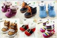 ball boy shoes - Double ball newborn snow boots M boys toddler shoes rainbow stripe winter girls baby shoes soft fuzzy kids shoes pair C