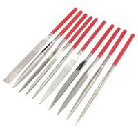 Wholesale 10pcs x160mm Diamond File Needle Handle Files Abrasive Tool Jewelry Engraving Fixing Files