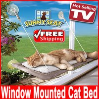 Wholesale Window Mounted Cat Bed Pet Hammock Sunny Seat Pet Beds pet hammock cats with a suction cup mat Pet Waterloo sunny seat