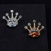 age sex - 2016 New pattern Animal shape Crystal Crown Brooch Pin People of all ages and both sexes Jewelry Multipurpose pin