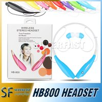 Wholesale HB Neckband Headphone HB Sports Headphones Stereo Headset Earphone HB800 earphones for iphone with Retail Package Opp Package