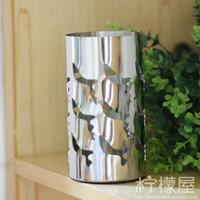 all'ingrosso stainless steel flower vase-Specchio tipo di colonna vaso in acciaio inox Home Furnishing gioielli d'arte della decorazione della casa di alta qualità in vaso di fiori