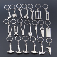 axe keychain - Wrench metal opener key ring car keychain custom logo Advertising Tool Spanner Key chain hammer saw axe pliers Drill keyring