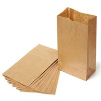 shopping bags paper - Lowest Price10pcs Brown Kraft Paper Bags Recyclable Gift Jewelry Food Bread Candy Packaging Shopping Party Bags For Boutique