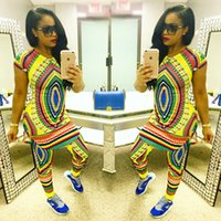 new design pants - 2016 New African fashion design suits pc sets women traditional print Dashiki clothing National characteristic short sleeve African clothes