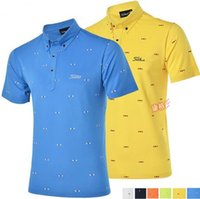 Wholesale 2016 spring and summer men golf shirt short sleeve polo shirt men s clothing breathable golf brand high elastic T shirt