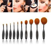 best power toothbrush - Beauty Toothbrush Shaped Foundation Power Makeup Oval Cream Puff Brushes Best Brush Set Makeup