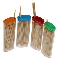 Wholesale Natural Bamboo Wood Toothpicks Portable Random Color