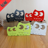 archives books - Creative cartoon owl bookends metal shelving books archives office desktop receive a set of books
