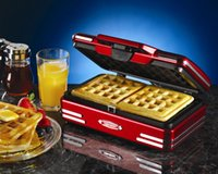 belgian waffle maker - Nostalgia Electrics RWM200 Belgian Waffle maker new machine home use business use easy use machine