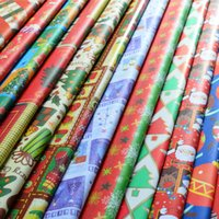 Wholesale Christmas Packaging Paper Boutique Classic Decorative Flat Wrapping Paper Roll scrapbooking Blending Gift Wrap Roll paper Party Decoration