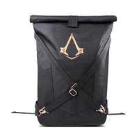 Wholesale Assassins Creed Syndicate Logo New Official Black Folded Backpack Bag