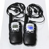 Wholesale New radio km walkie talkie pair T388 PMR FRS VOX hand free portable radios private code w led flashlight earphone