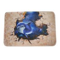 Wholesale SEJ Funny Dolphin print Non slip rubber Door mat Home Decro Floor Rug cm