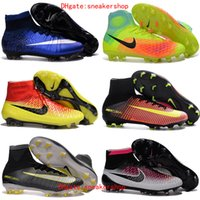 Wholesale 2017 New mercurial superfly fg cr7 blue original soccer cleats all black cr7 soccer shoes magista obra mens football boots Gold outdoor
