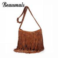 Wholesale Beaumais Hot Sale American Star Fashion Tassels Bags Hobo Clutch Purses Handbags women Shoulder Bags Messenger Bag JN001