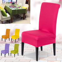 Wholesale New Stretch Spandex Kitchen Bar Hotel Restaurant Dining Chairs Seat Covers Protector Slipcover Wedding Part Decor Pieces