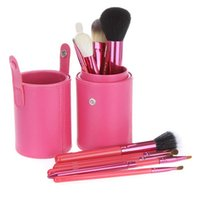 barrel making tools - 15PCS makeup brushes bag long tube profissional make up tool portable Cylinder barrel foundation eye shadow maquiagem girl Cosmetic Bags