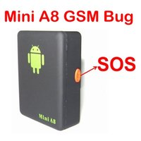 Wholesale Recall GPS Position Mini A8 Gsm Bug with SOS Button MHz Voice Trigger