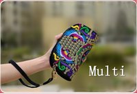 Wholesale 2016 new anh fashionable bag embroidered ethnic style embroidery bag phone change packet Ladies Double Clutch