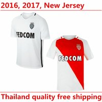 Cheap Monaco Jersey Club 22 ABIDAL 8 MOUTINHO 9 FALCAO 10 JAMES 28 TOULALAN Football Shirt Uniform Kits Foot Tshirt Team Color Red White