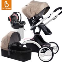 babies sleeping in car seats - 2016 Fashion High view Folding in Stroller for months baby sitting lying Stroller Sleeping Basket Safety Car Seat