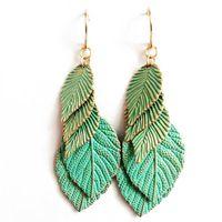 Wholesale Sweet Leaf Earring New Fashion Hot Sale Earring Popular Earring Trendy Earring Sweet Cute Earring