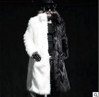 Wholesale Fall S Xl Mens Winter Long Coats Fox Fur Manmade Mink Fur Jackets Casual Overcoats Male Plus Size Outwears Clothings Jaqueta J1542