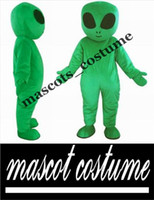 aliens costumes - RH0416 green alien mascot costume for adults