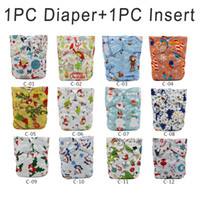 Wholesale 2016 Christmas Diapers Washable Baby Diaper Waterproof Diaper Cover Reusable Baby Nappy Cloth Diapers Fashion Cloth Nappy