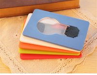 amazing christmas card - Amazing New Portable Pocket LED Card Light Lamp Put in Purse Wallet Led card light Credit Card size Led Christmas Card Light as gifts