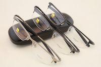 Wholesale 8906 Sports Business Eyewear tr90 Titanium Myopia Glasses Frame Comfortable Slip resistant Half rim eyeglasses frame with case