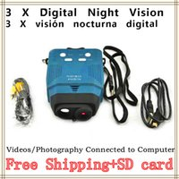 Cheap Visionking 3x Digital Night Vision Monocular Vedio Photograph Hunter Can Be Connected to Computer Digital Monocular High Quality