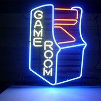 bar game machine - Game Machine shaped Glass DIY LED Neon Sign Flex Rope Light Indoor Outdoor Decoration RGB Voltage V V
