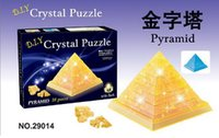 Wholesale 3D crystal Pyramid toy bricks puzzle child DIY educational toy Creative toys dhl