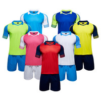 Wholesale ZD1677 soccer traning set uniforms soccer sets customized your team logos soccer sets football shirts free DHL shipping