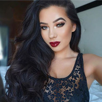 Wholesale Virgin Indian Body Wave Wavy Glueless Full Lace Human Hair Wigs Middle Part quot Lace Front Human Hair Wigs Density Bleached Knots