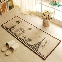 Wholesale Minimalist Style rectangle carpet skid carpet in kitchen bathroom water absorbed rug