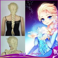 Wholesale Children And Adult Plait Fluffy Long Hair Cosplay Wigs Cartoon Movie Elsa Girl Hair Wigs Hallowmas Masquerade Hair