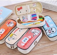 Wholesale Korean cartoon stationery to light Creative large capacity pen bag Contracted male and female students pencil case