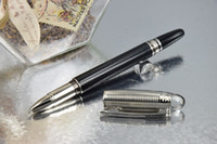 Wholesale Copy MB SW Stripes Crystal Silver Cap Black Barrel Roller Ball Pen Luxury Pen No Box