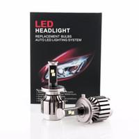 Wholesale H4 High Low Car Headlight Cree LED Chipset H4 Car Head Fog DRL Conversion Light No Ballast No relay