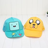 Multicolor big jake - Anime Cartoon Adventure Time Jake and Finn Beemo BMO Baseball Hat Sun Cap Retail