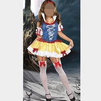 adult romantic gifts - Romantic Halloween Costume Quality Sexy Cosplay Clothing Snow White Costumes Adult Deluxe Halloween Gift Dress With Headdress
